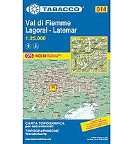 Tabacco N° 014 Val di Fiemme/Lagorai/Latemar (1:25.000), 1:25.000