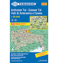 Tabacco N° 032 Antholzer Tal/Gsieser Tal - Valli di Anterselva e Casies (1:25.000), 1:25.000