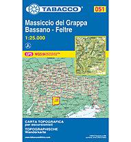 Tabacco N° 051 Monte Grappa, Bassano, Feltre (1:25.000), 1:25.000
