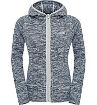 The North Face Nikster Full Zip Hoodie Giacca in pile donna, Grey