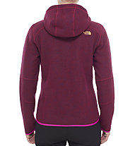 The North Face Zermatt Full Zip Hoodie Giacca in pile donna, Dramatic Plum Heather
