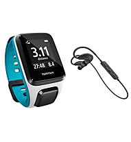 Tom Tom Set: Runner 2 Cardio+Music - GPS Uhr + Sports Bluetooth Kopfhöhrer