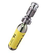 Topeak Micro Airbooster - minipompa CO2, Grey/Yellow