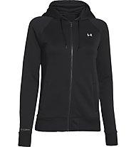 Under Armour UA Fleece Full Zip Hoodie Damen, Black/Ivory