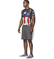 Under Armour Alter Ego Captain America Kompressionsshirt, Midnight Navy