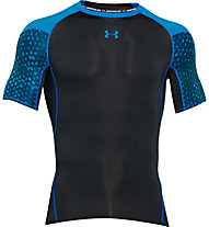 Under Armour Exlusive Coolswitch T-shirt compressiva da palestra, Black/Blue