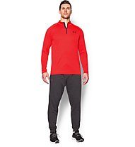Under Armour Tech Longsleeve 1/4 Zip Herren, Red/Black