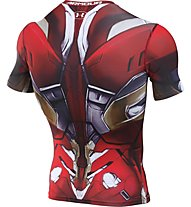 Under Armour Transform Yourself Iron Man Compression T-Shirt fitness, Black/Red