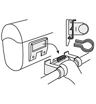 Vaude Klick Fix System for handle bar bags, Black
