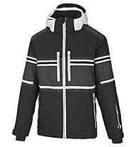 Vuarnet M-Lofer Jacket Man Skijacke, Black/White Sail