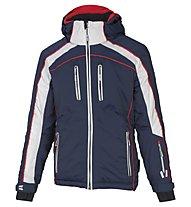 Vuarnet Giacca sci M-Privas Jacket Man, Sail Navy/White Sail/Red