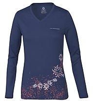 Wild Roses Isadora WR Logo R-Neck Shirt Langarm Damen, True Blue