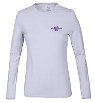 Wild Roses Lizette WR Logo R-Neck T-shirt Donna, Lavander Grey