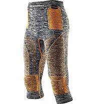 X-Bionic Energy Accumulator Evo Melange Medium Pant lange Unterhose, Grey Melange/Orange