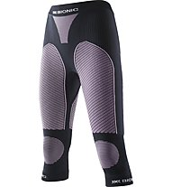 X-Bionic Pantalone intimo lungo donna Ski Touring Evo Lady Pants Medium, Black/Pink
