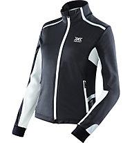 X-Bionic Spherewind Light Jacket Lady giacca running donna, Black/White