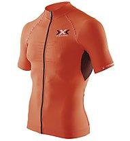 X-Bionic The Trick Shirt Short Sleeves Full Zip, Orange