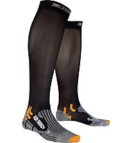 X-Socks Run Energizer Calzini Lunghi running, Black