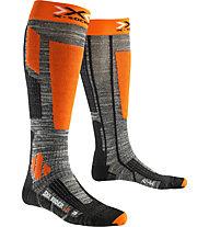 X-Socks Calzini da sci Ski Rider 2.0, Grey/Orange